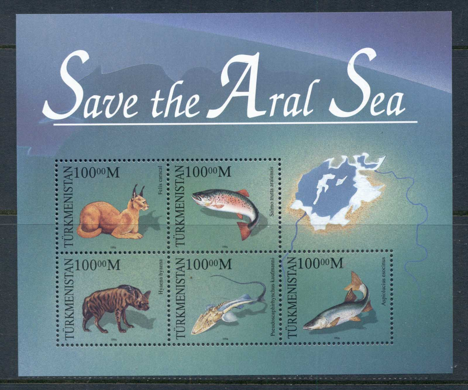 Turkmenistan 1996 Save the Aral Sea MS MUH