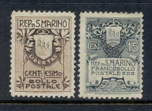 San Marino 1907-10 Coat of Arms MLH