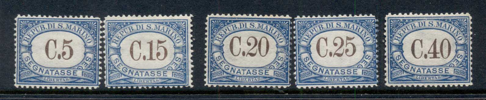 San Marino 1925-29 Postage Dues Asst MLH
