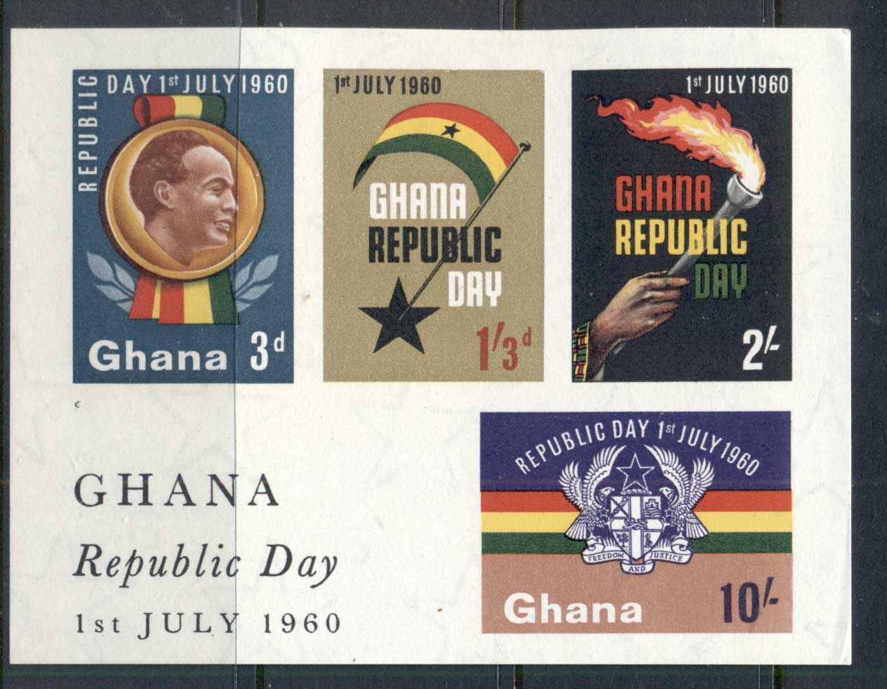 Ghana 1960 Republic Day MS MUH