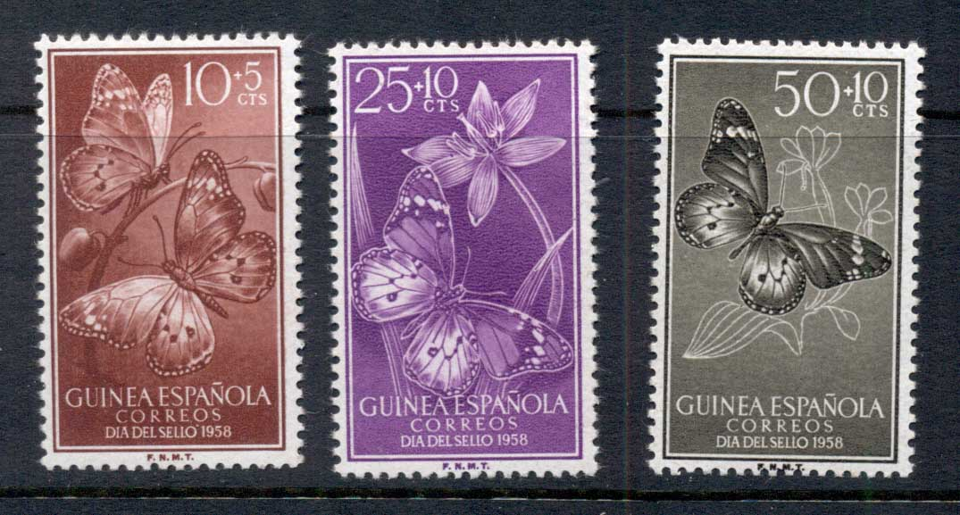 Spanish Guinea 1958 Insects, Butterflies MUH