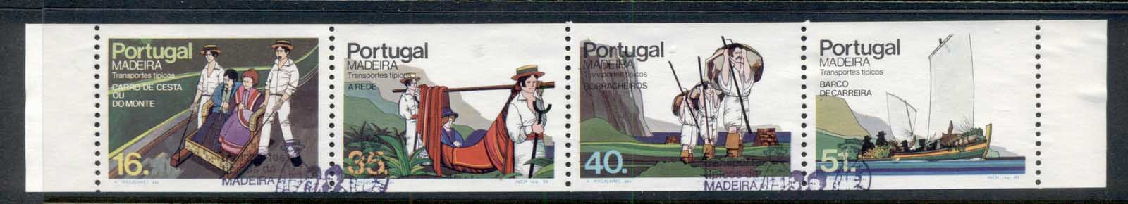 Madeira 1984 Traditional Means of Transportation booklet pane FU