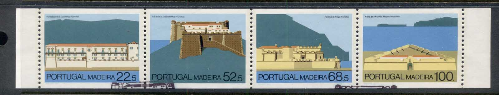 Madeira 1986 Forts in Funchal & Machico booklet pane FU