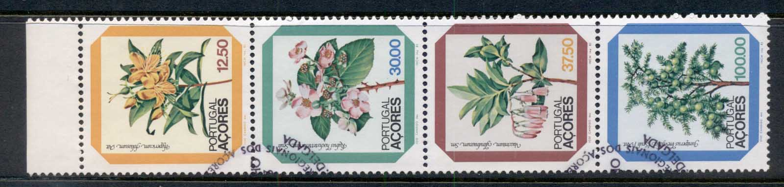 Azores 1983 Flowers booklet pane FU