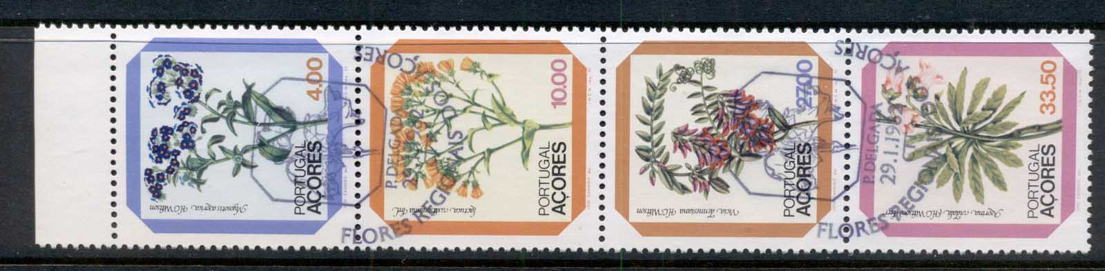 Azores 1982 Flowers booklet pane FU