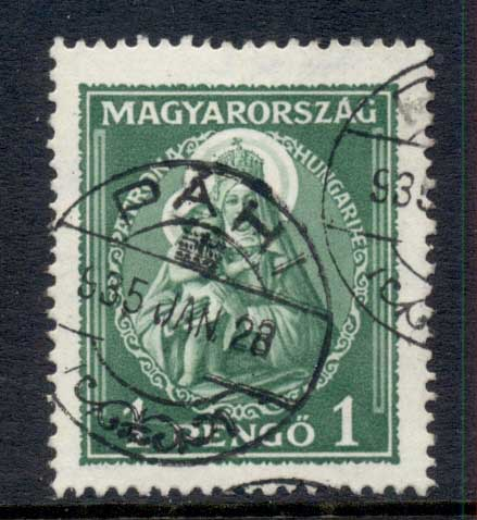 Hungary 1932 Madonna & Child 1p FU