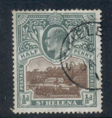 St Helena 1903 Badge of the Colony 0.5d FU