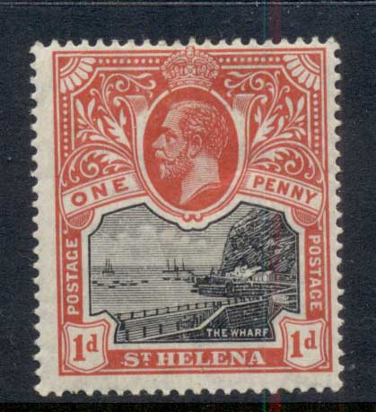 St Helena 1922-27 Badge of the Colony 1d MH