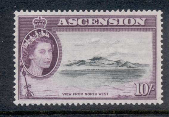 Ascension Is 1956 QEII Pictorials View from Northwest 10/- MUH