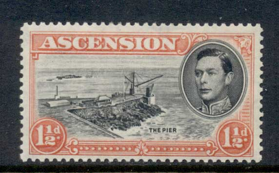 Ascension Is 1938-53 KGVI Pictorials The Pier 1.5d Perf 13 MLH