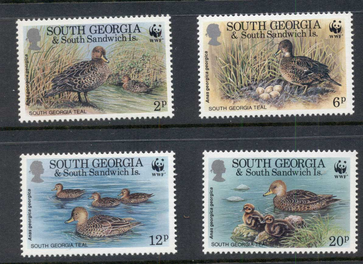 South Georgia 1992 WWF South Georgia Teal MUH