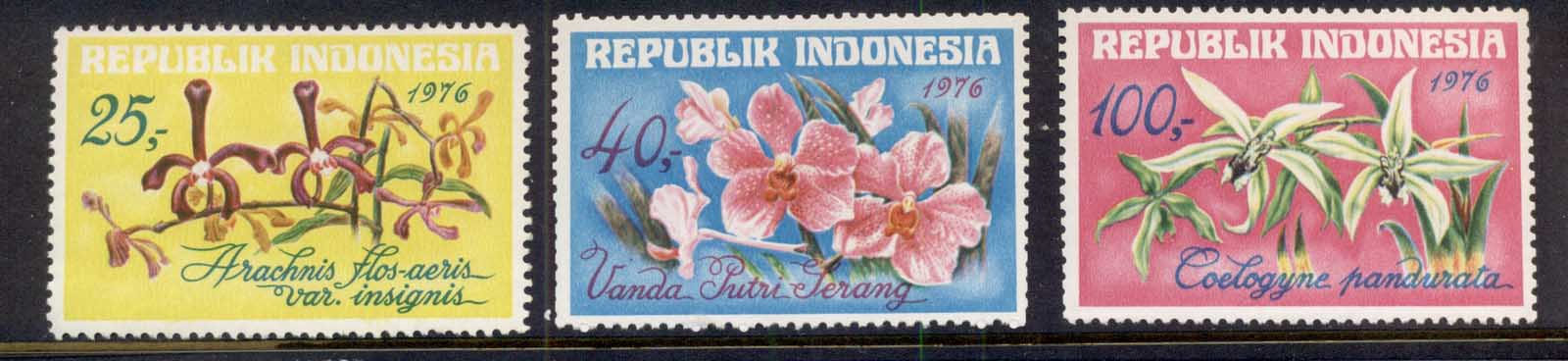 Indonesia 1976 Flowers, Orchids MUH
