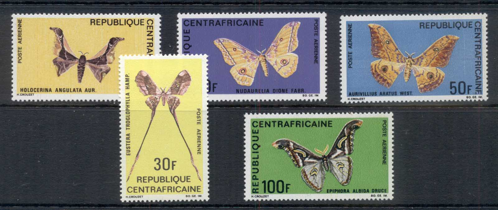 Central African Republic 1969 Insects Butterflies & Moths MUH