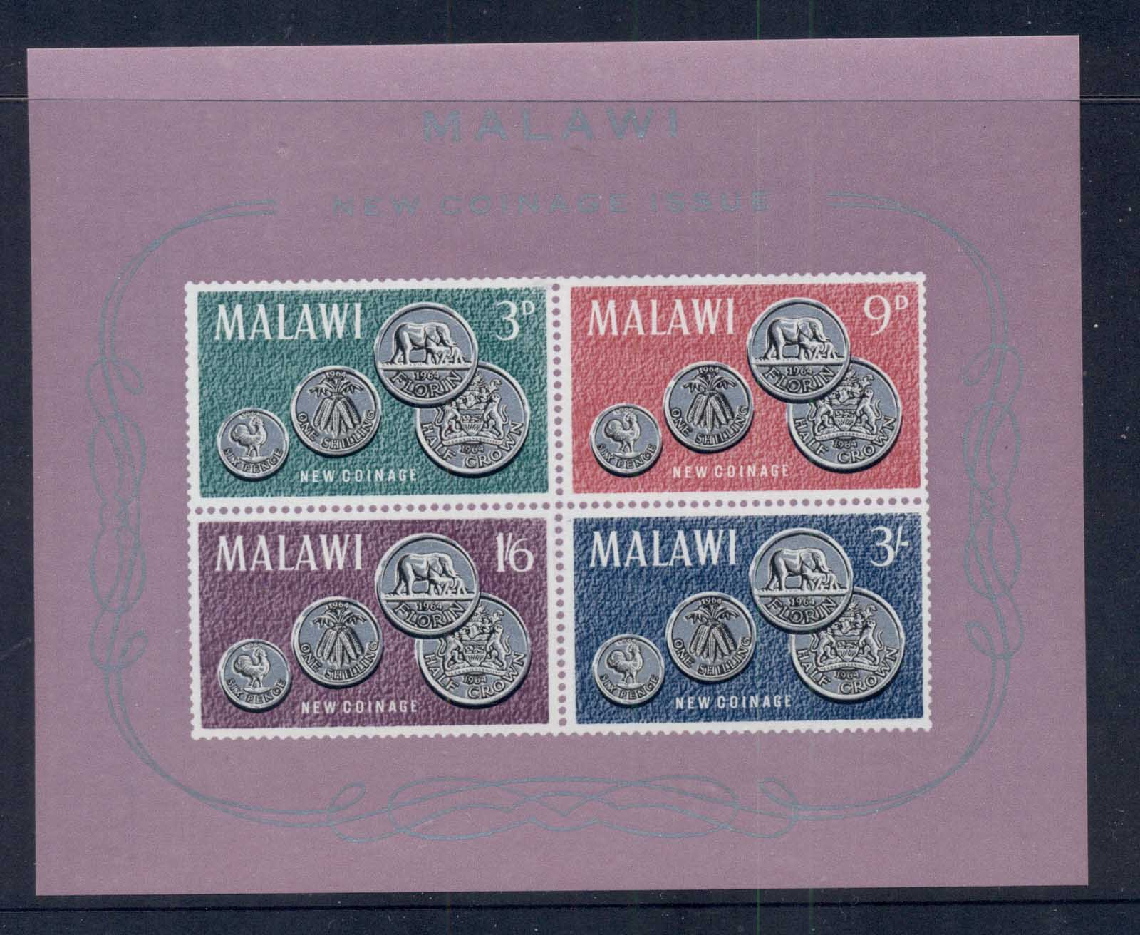 Malawi 1965 First Coinage Ms MUH