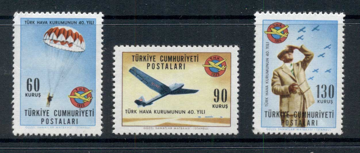 Turkey 1965 Turkish Aviation league Muh - Click Image to Close