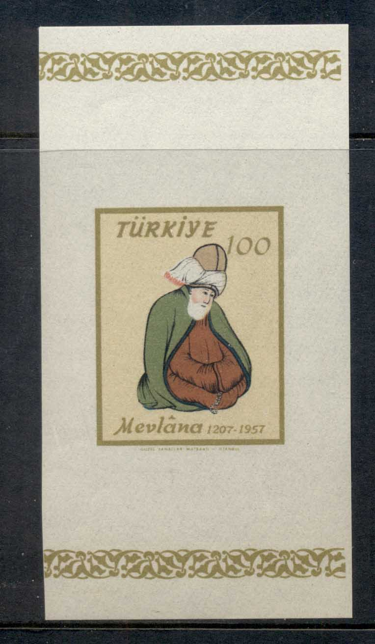 Turkey 1957 Mevlana MS MUH