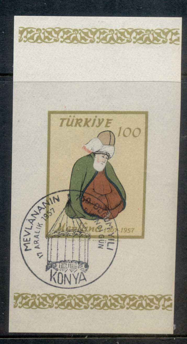Turkey 1957 Mevlana MS FU