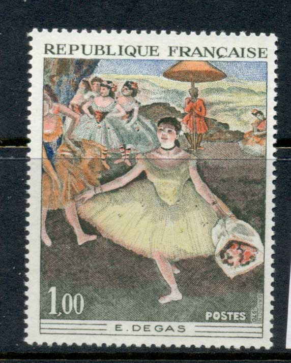 France 1970 Art, Dancer with Bouquet MUH