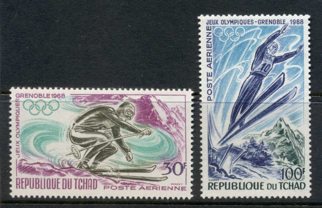 Chad 1968 Winter Olympics Grenoble MUH