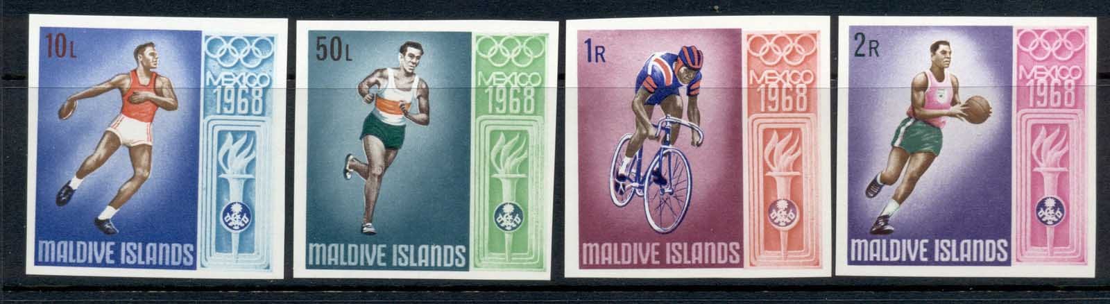 Maldive Is 1968 Summer Olympics Mexico City IMPERF MUH
