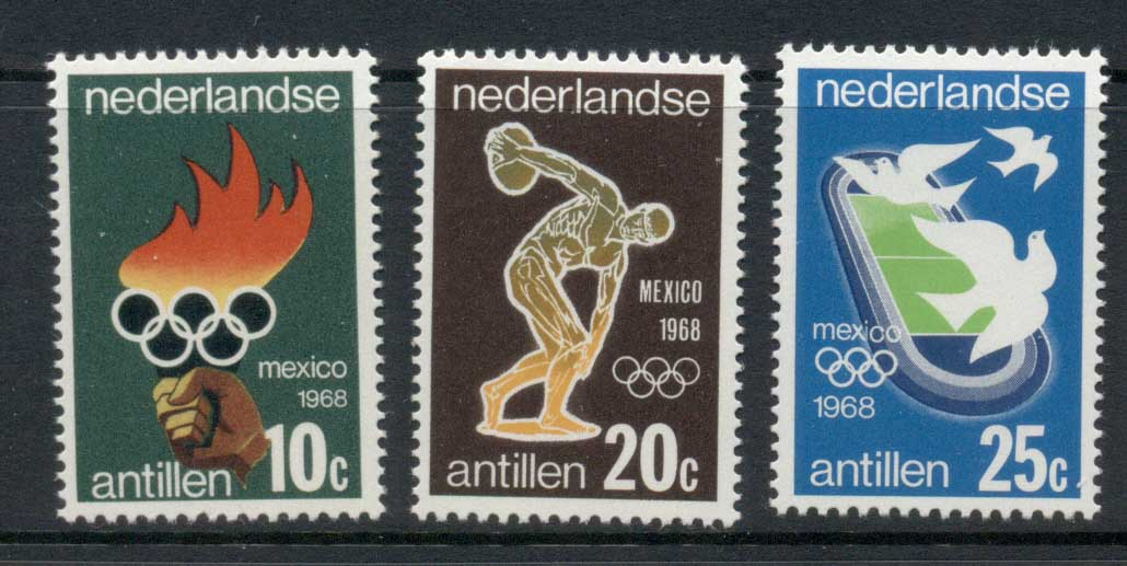 Netherlands Antilles 1968 Summer Olympics Mexico City MUH
