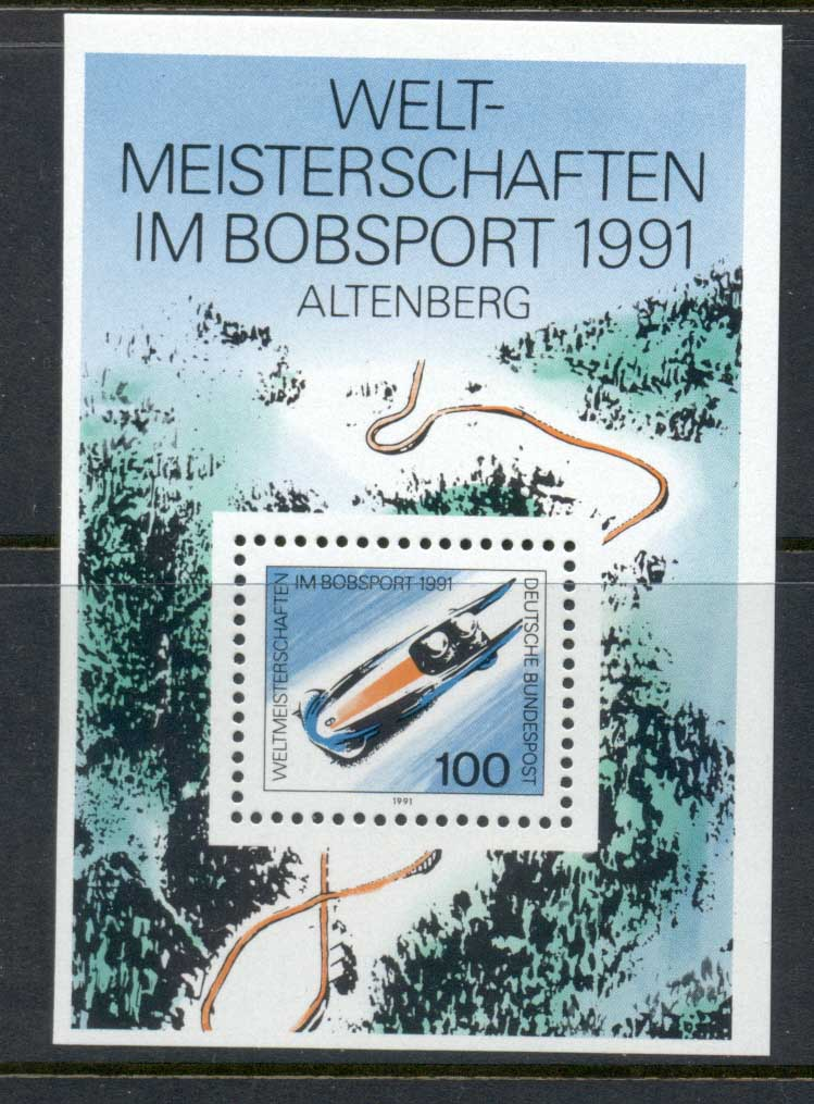 Germany 1991 Bobsled Championship MS MUH