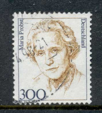 Germany 1992 Famous Women 300pf Maria Probst FU