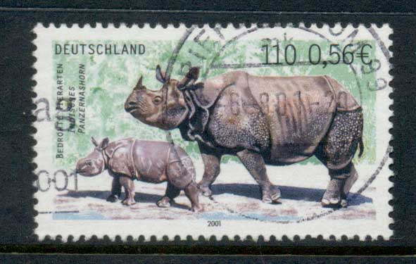 Germany 2000 Endangered Species, Rhino FU