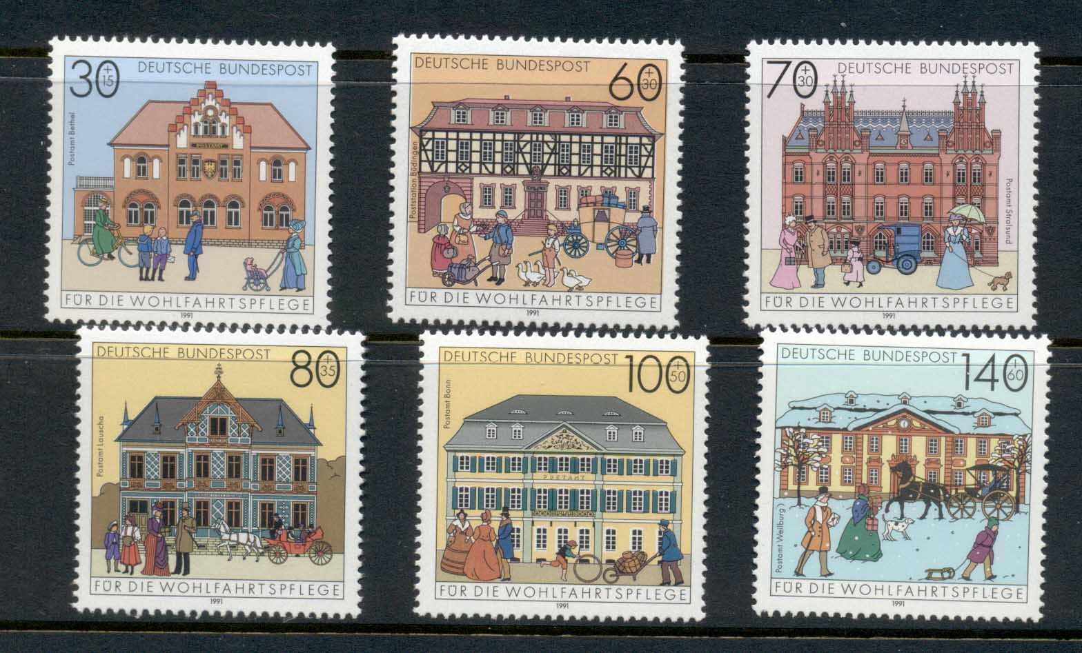 Germany 1991 Welfare, Post Offices MUH