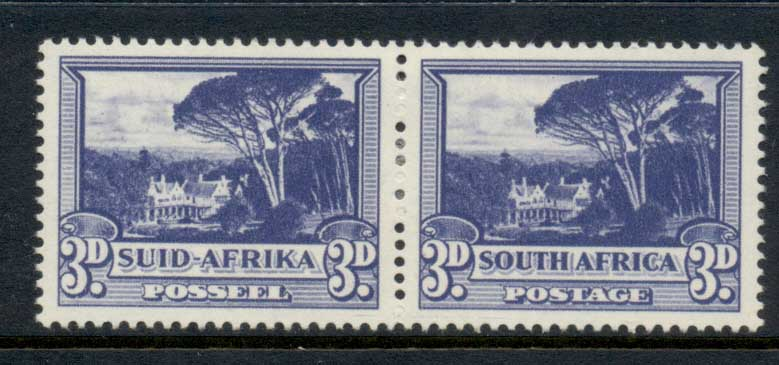South Africa 1933-54 Groote Schuur 3d dull blue pr MLH