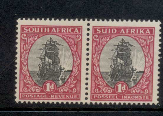 South Africa 1951 Ship 1d pr MLH