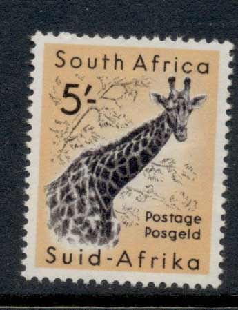 South Africa 1952 QEII Pictorials, Wildlife, Giraffe 5/- MLH