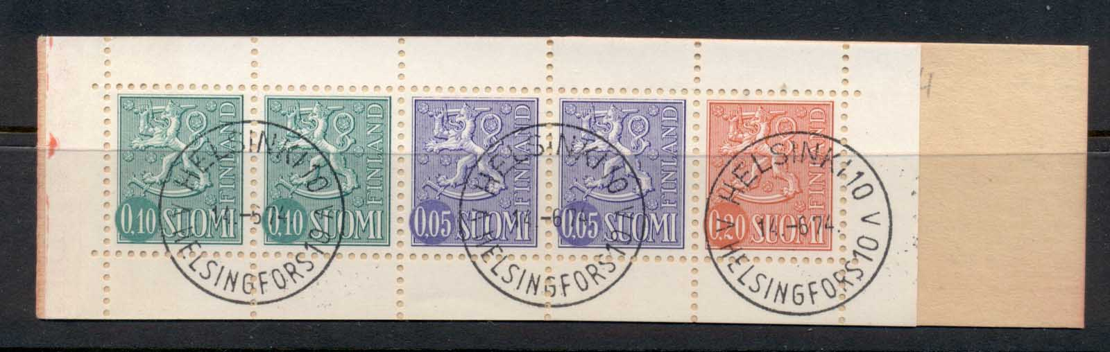 Finland 1963-67 Arms of Finland booklet 2x10, 2x5, 1x20 CTO