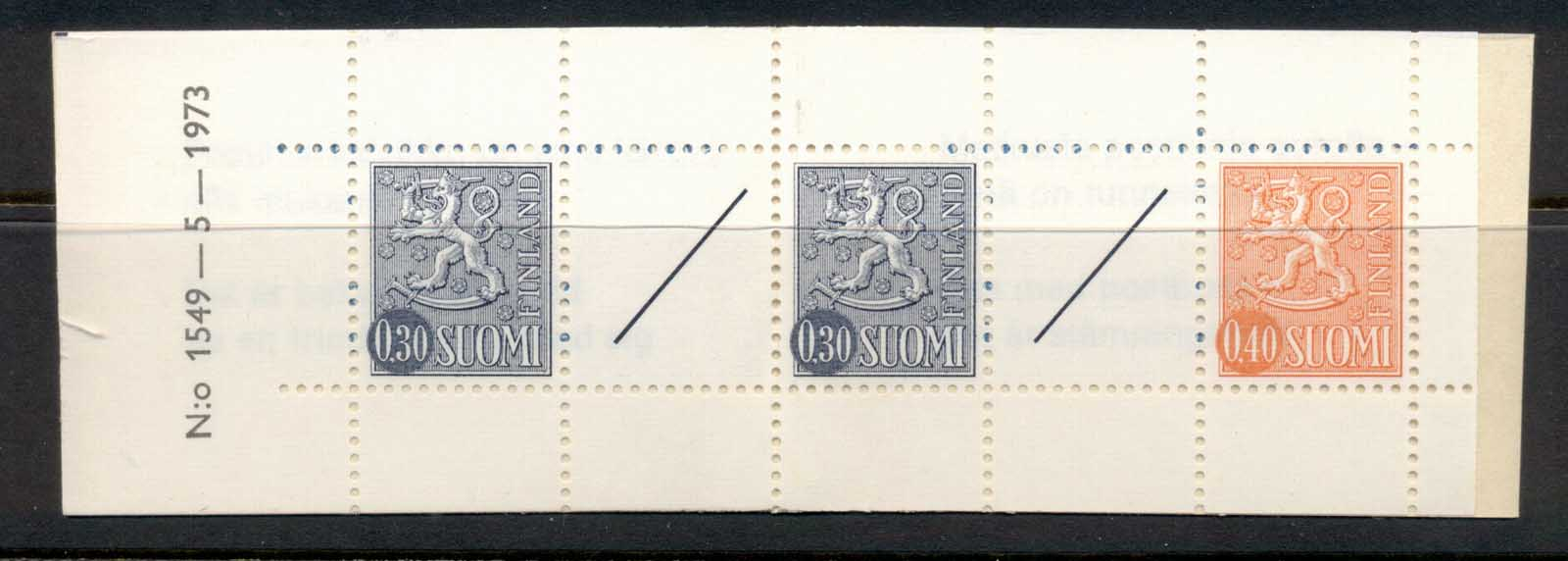 Finland 1968-78 Arms of Finland booklet 2x30, 1x40, 2 labels MUH