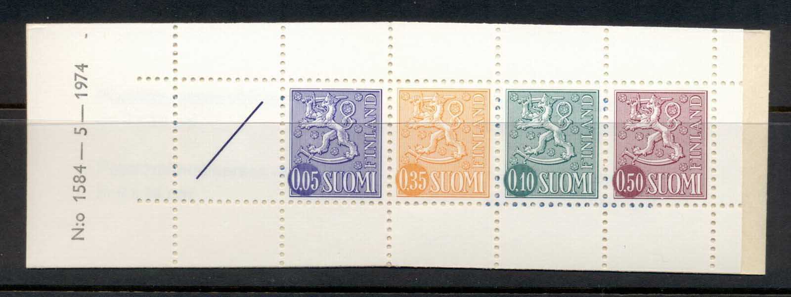 Finland 1968-78 Arms of Finland booklet 1x05,1x35,1x10,1x50, 1 label beige cover MUH