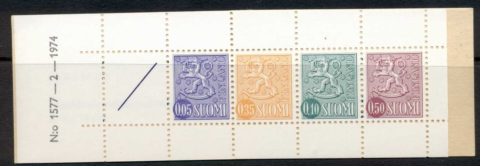 Finland 1968-78 Arms of Finland booklet 1x05,1x35,1x10,1x50, 1 label green cover MUH
