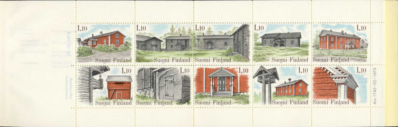 Finland 1979 Traditional Houses booklet MUH
