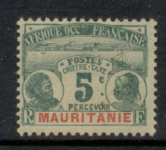 Mauritania 1906-07 Postage Dues 5c MLH