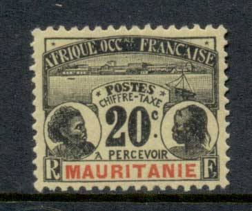 Mauritania 1906-07 Postage Dues 20c MLH