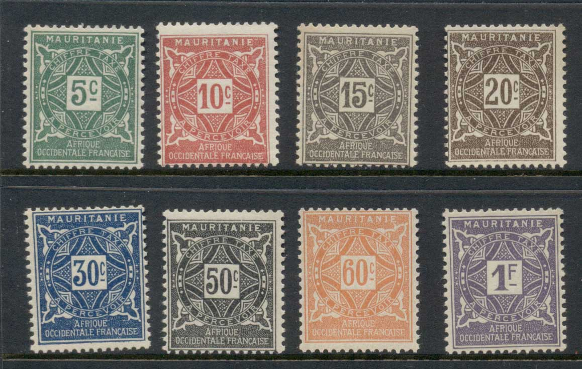 Mauritania 1914 Postage Dues MLH