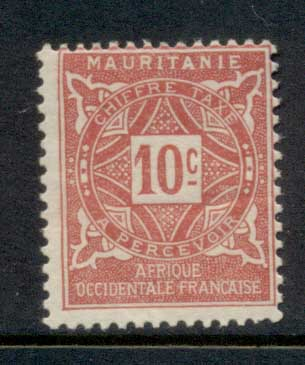 Mauritania 1914 Postage Dues 10c MLH