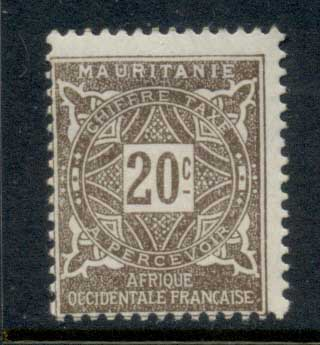 Mauritania 1914 Postage Dues 20c MLH