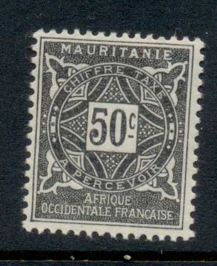 Mauritania 1914 Postage Dues 50c MLH