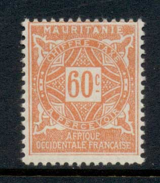 Mauritania 1914 Postage Dues 60c MLH