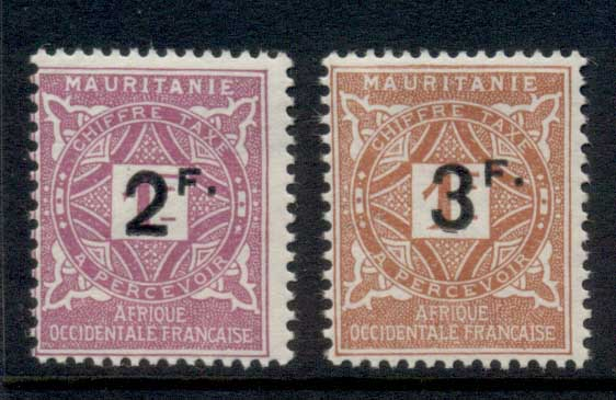 Mauritania 1927 Postage Dues Surch MLH
