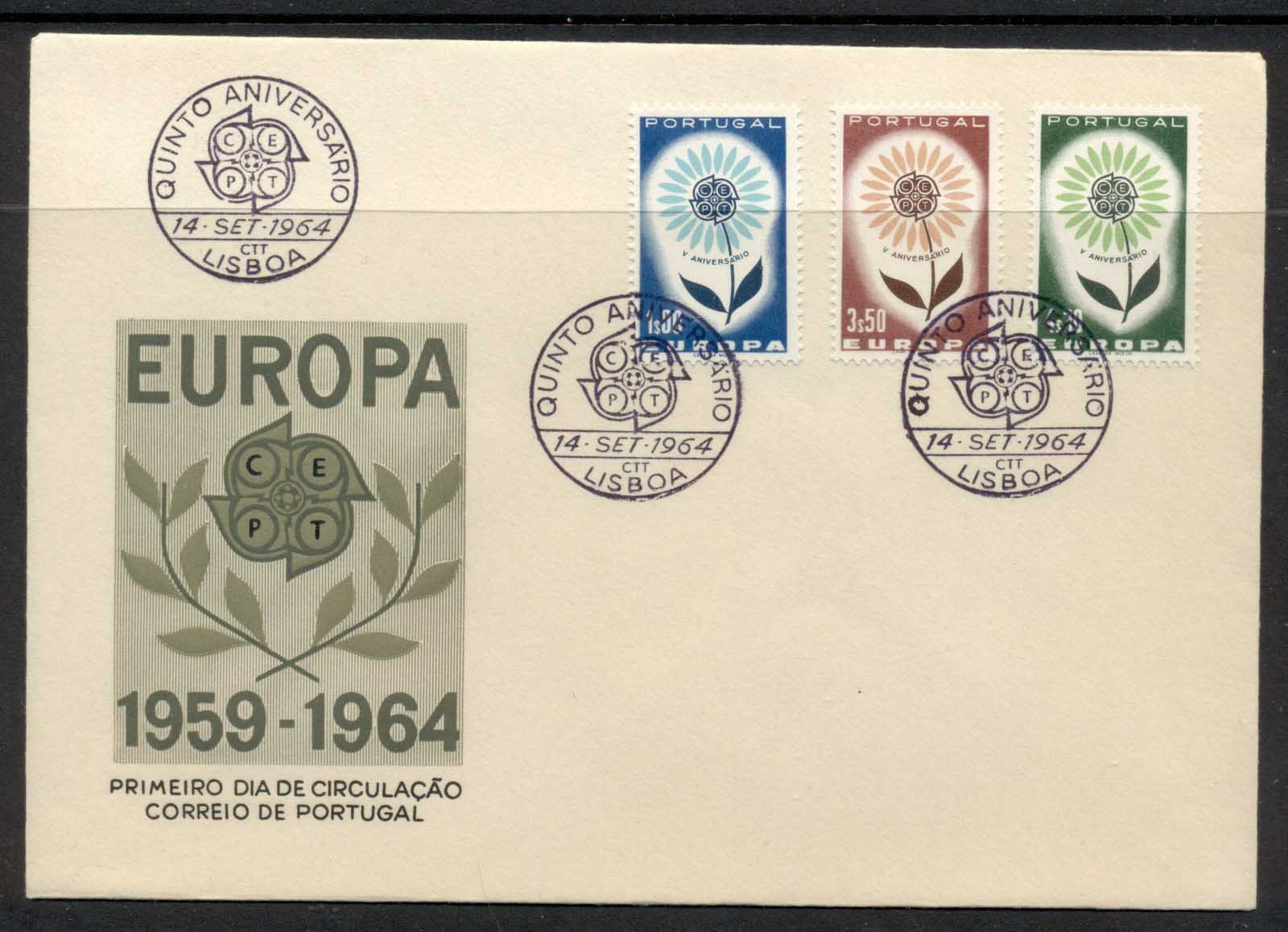 Portugal 1964 Europa Daisy of Petals FDC - Click Image to Close