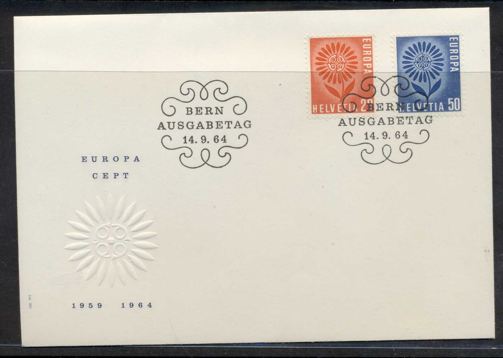 Switzerland 1964 Europa Daisy of Petals FDC