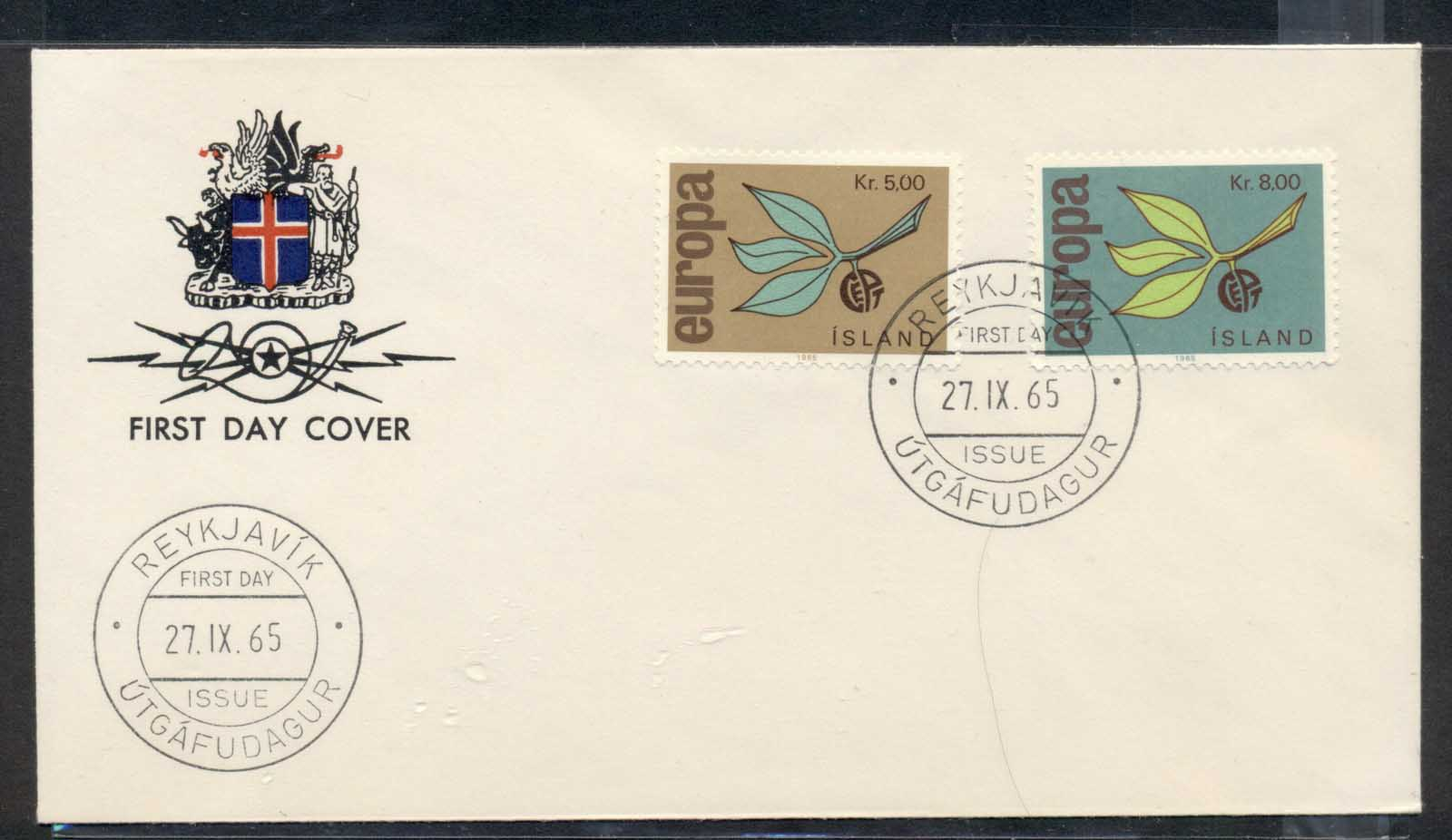 Iceland 1965 Europa Leaves & Fruit FDC