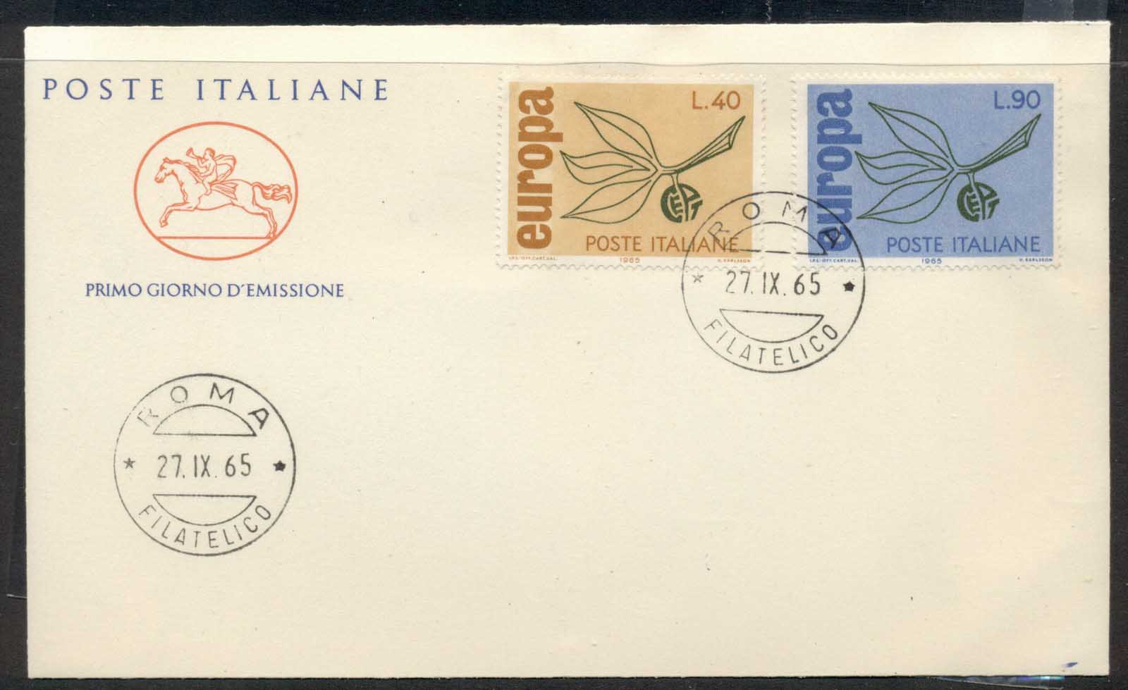 Italy 1965 Europa Leaves & Fruit FDC