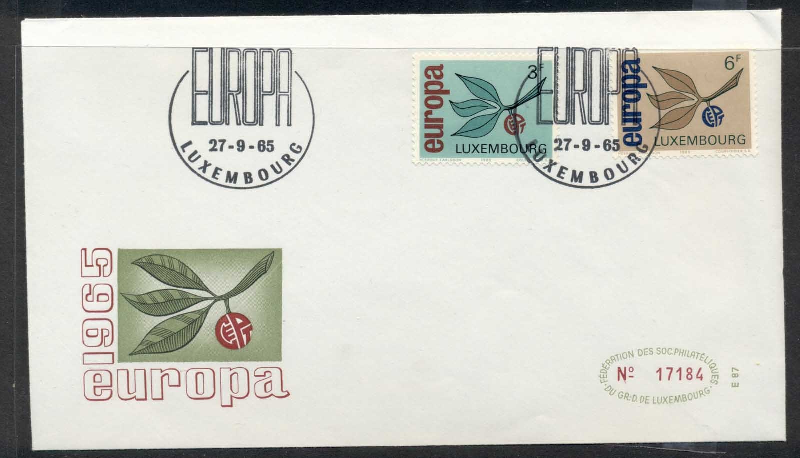 Luxembourg 1965 Europa Leaves & Fruit FDC